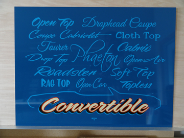 Convertible Lettering Panel